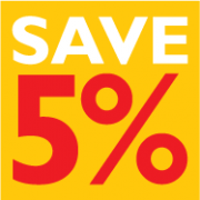 Save 5% by coming in early
