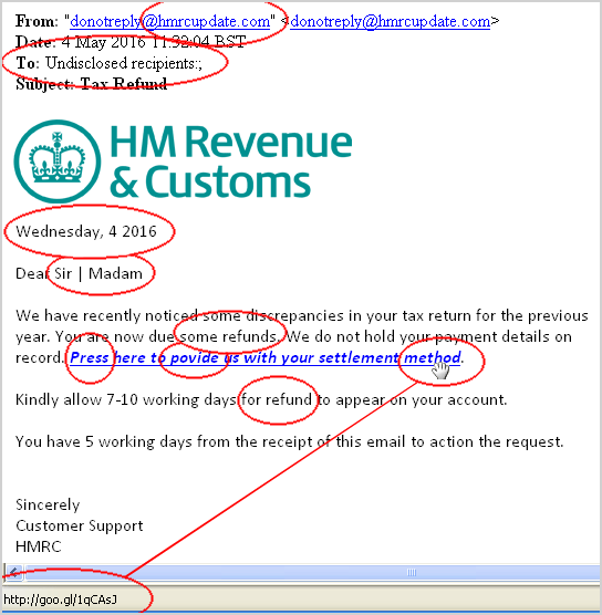 Received an hmrc tax refund email it 39 s probably a - Hm revenue and customs office address ...
