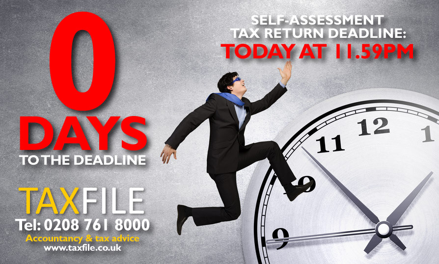 Final day to submit your Self-Assessment tax return