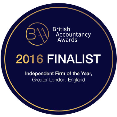 Finalist in the British Accountancy Awards - Independent Firm of the Year, Greater London 2016