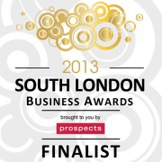 Finalist in the 'Best Small Business' category at the South London Business Awards 2013