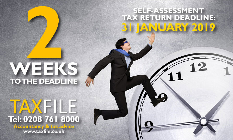 2 weeks to the Self-Assessment tax return deadline!