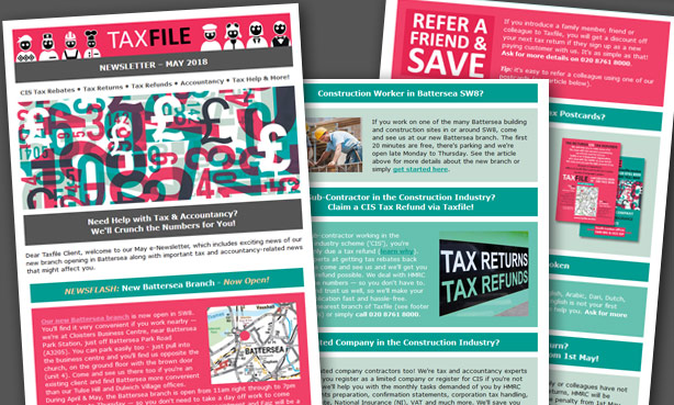 Taxfile's May 2018 e-newsletter