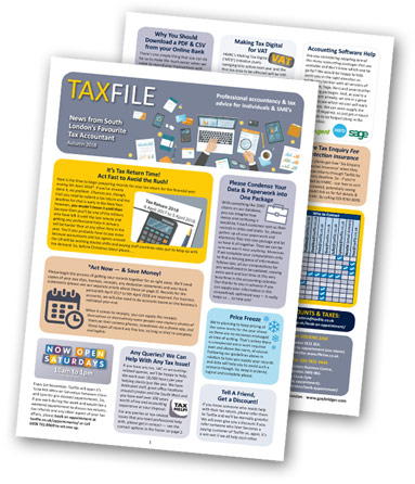 Download Taxfile's Autumn Newsletter 2018