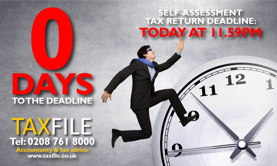 0 days to the Self-Assessment tax return deadline!