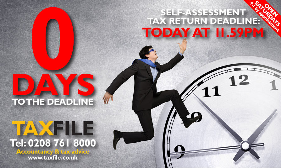TODAY is the Self-Assessment tax return deadline!