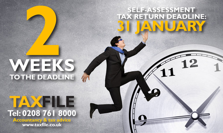 2 weeks to the self-assessment tax return deadline!