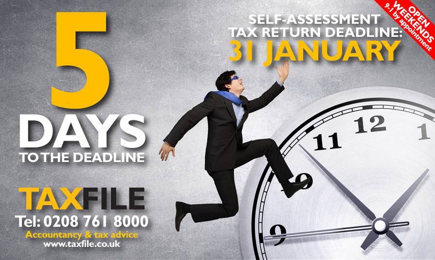 5 days left to file your Self-Assessment tax return