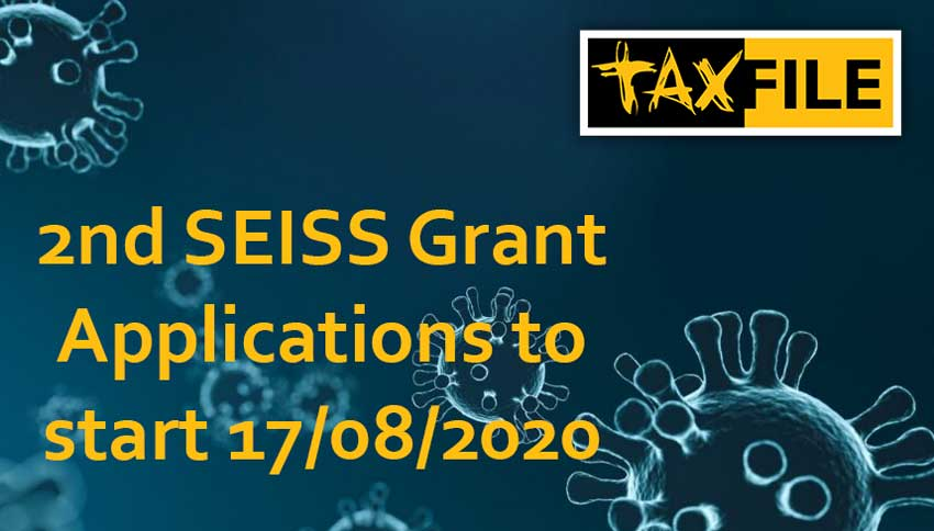 2nd SEISS Grant Applications to start 17 August 2020