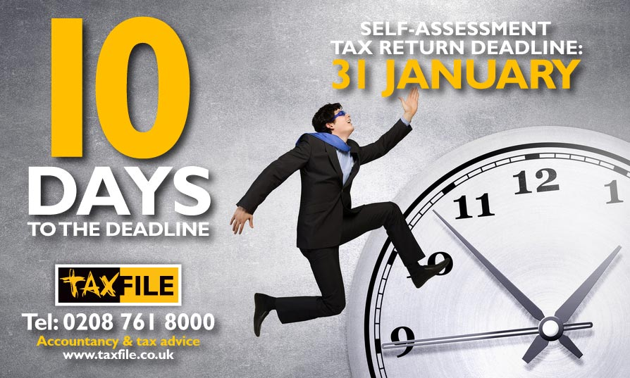 10 days to the self-assessment tax return deadline!
