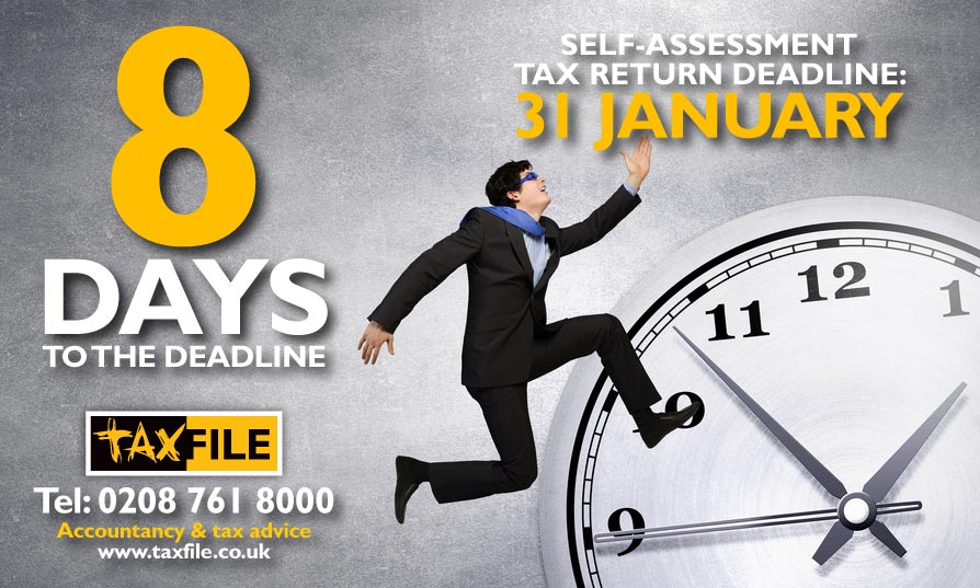 8 days to the self-assessment tax return deadline!