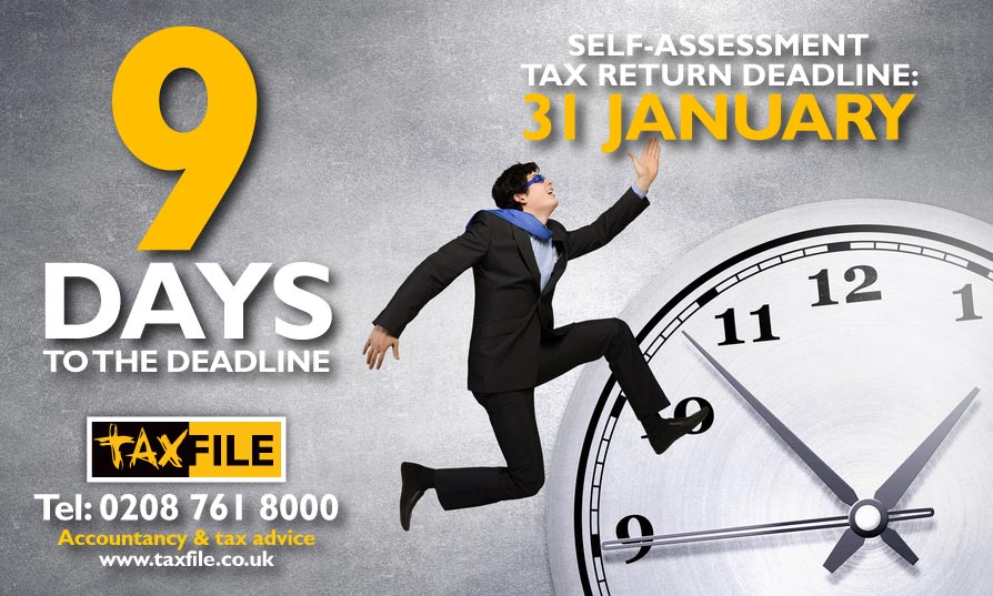 9 days to the self-assessment tax return deadline!