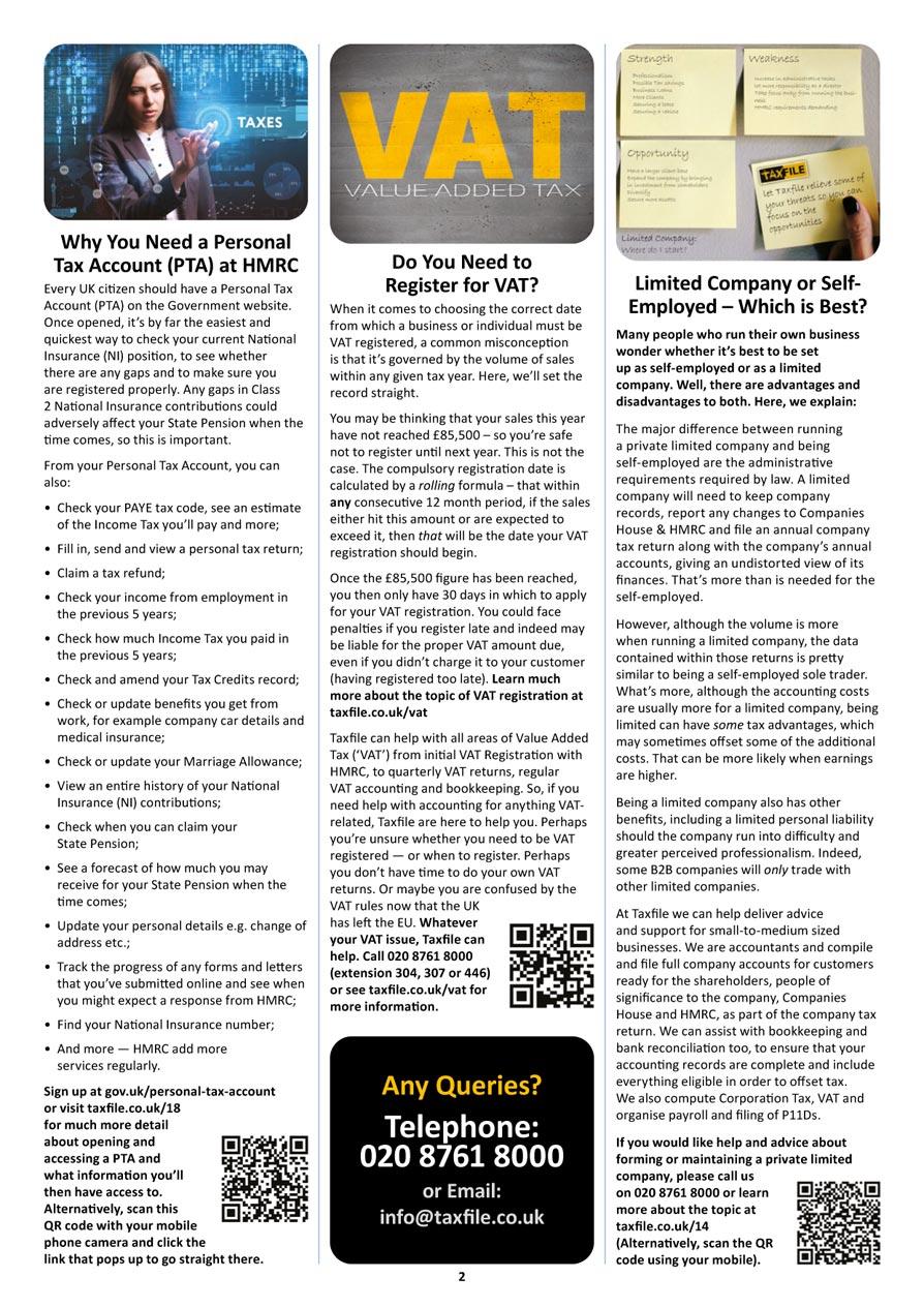 Autumn Newsletter, page 2
