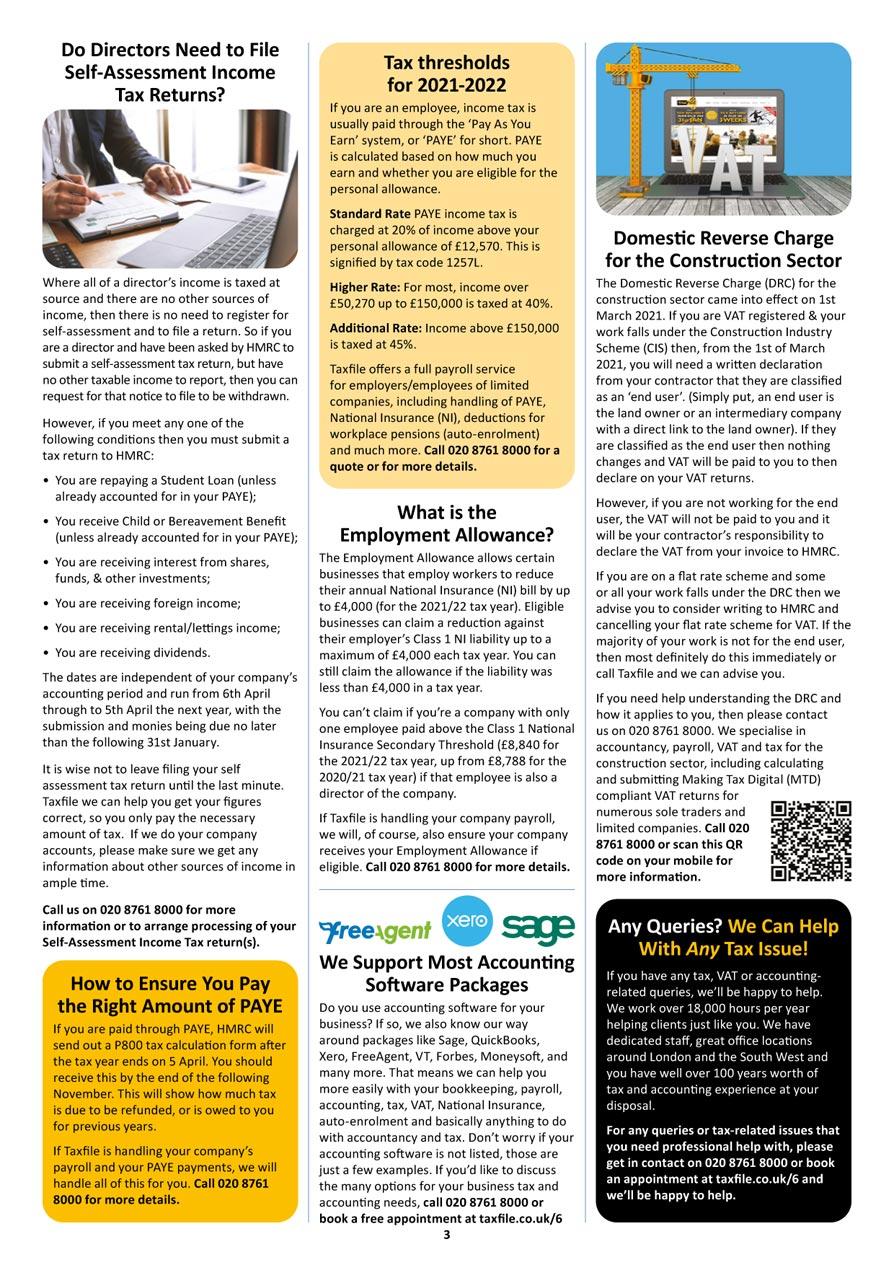 Autumn Newsletter, page 3